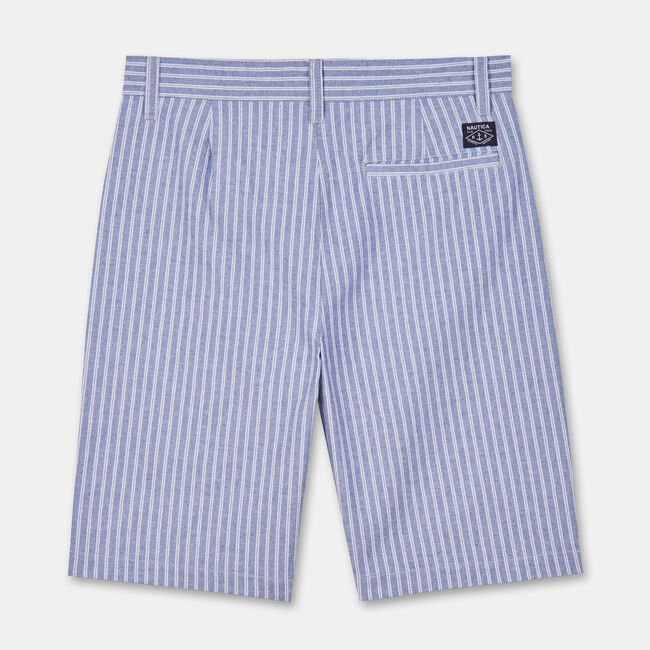 LITTLE BOYS' TREYLOR STRIPED SHORTS (4-7),Pure Deep Sea Wash,large