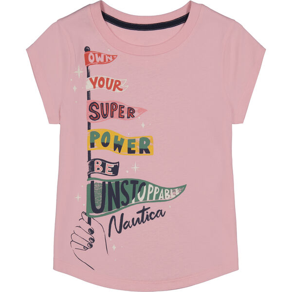 LITTLE GIRLS' BE UNSTOPPABLE GRAPHIC T-SHIRT (4-7) - Zinfandel