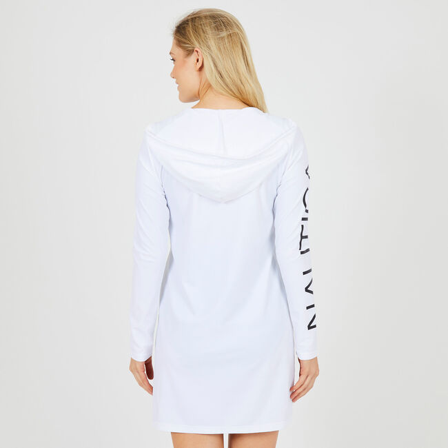 Hoodie Cover-Up,Bright White,large