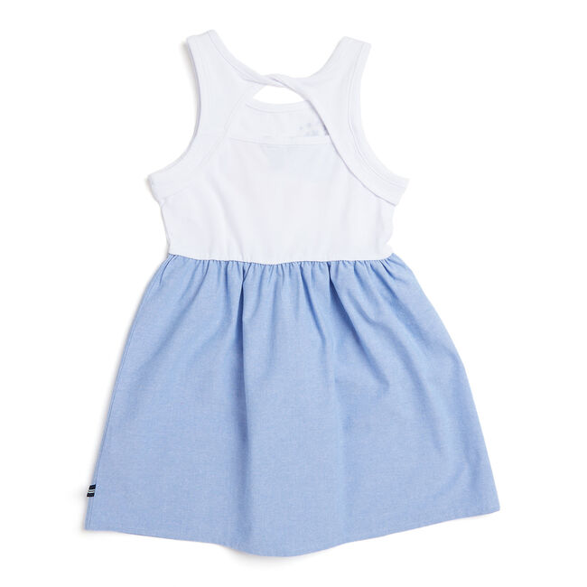 Toddler Girls' Heart + Anchor Chambray Skirt Dress (2T-4T),White,large