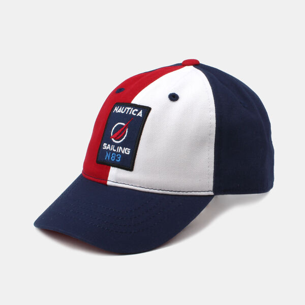 KIDS' COLORBLOCK SAILING PATCH CAP - Navy