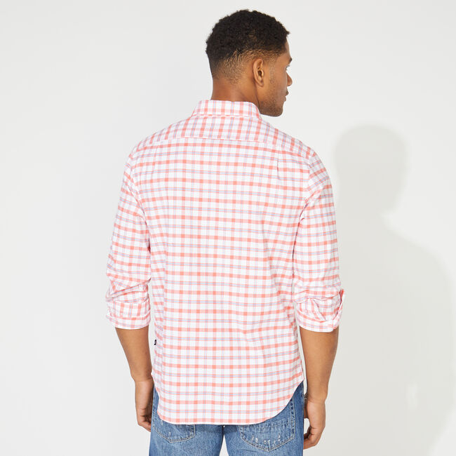 BIG & TALL NAVTECH PLAID SHIRT,Coral Dream,large
