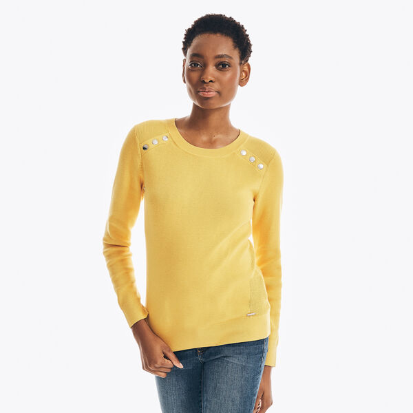 SUSTAINABLY CRAFTED RIB-KNIT SWEATER - Sun Fish Yellow