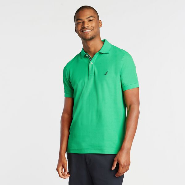 SLIM FIT PERFORMANCE MESH POLO - Bright Green