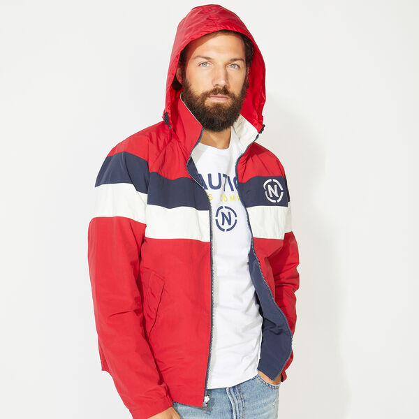 NAUTICA JEANS CO. REVERSIBLE BOMBER JACKET - Nautica Red