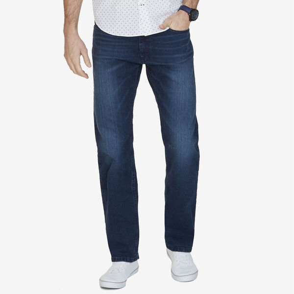 Big & Tall Relaxed Fit Deep Bay Wash 5-Pocket Jeans - Pure Deep B