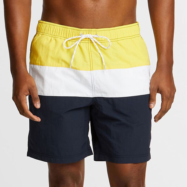 "Big & Tall Anchor Colorblock Swim Shorts - 18"" Outseam,Sun Fish Yellow,large"