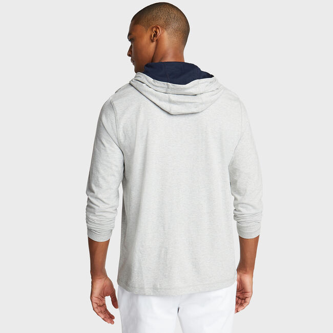 Classic Jersey Hoodie,Grey Heather,large