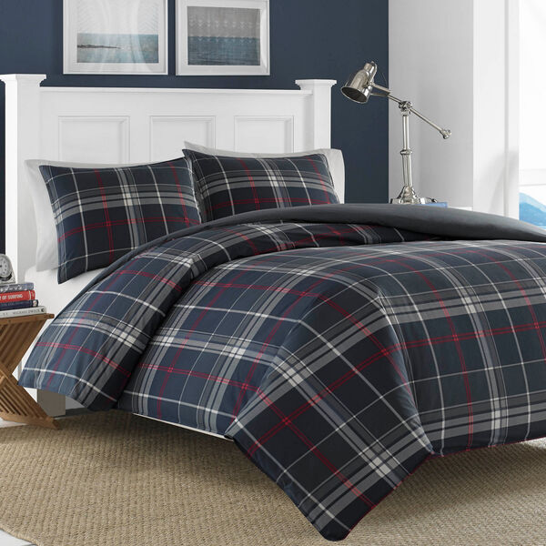 Booker Duvet Set - Grey Heather