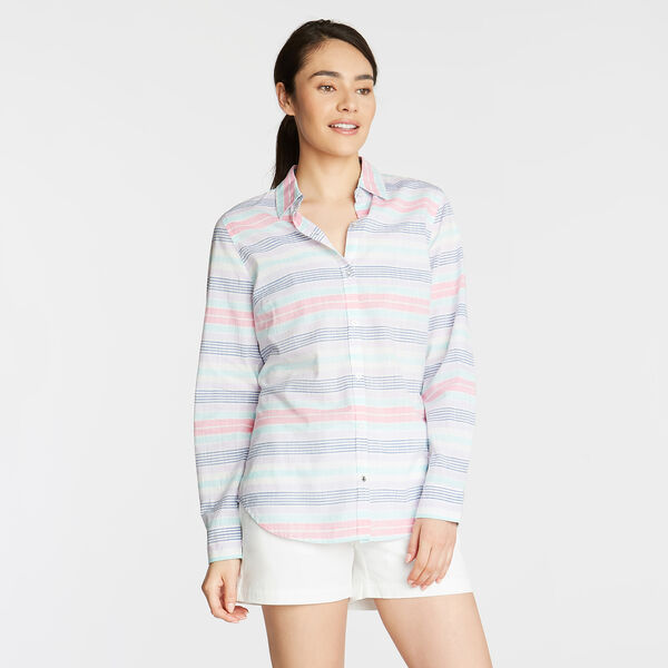 CLASSIC FIT WOVEN SHIRT IN YARN DYED STRIPE - Lavender
