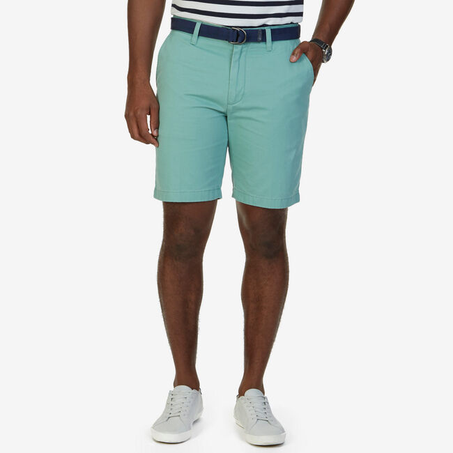 Classic Fit Twill Short,Fin Green,large