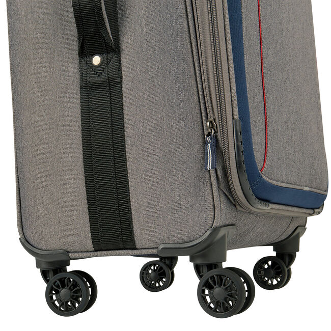 "Naval Yard 19"" Expandable Spinner Luggage,Charcoal Hthr,large"