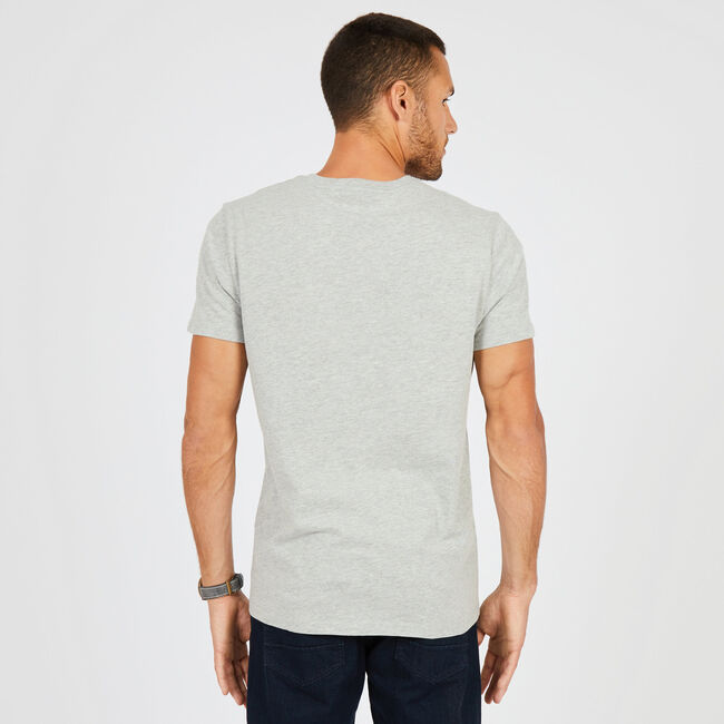 So.Cal Big Wave Graphic V-Neck T-Shirt,Grey Heather,large