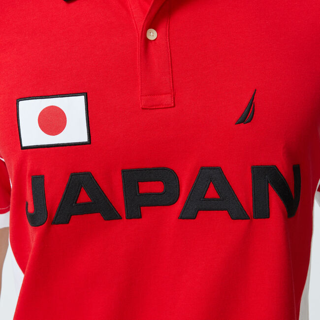 CLASSIC FIT JAPAN PRINT POLO,Reckoning Red,large