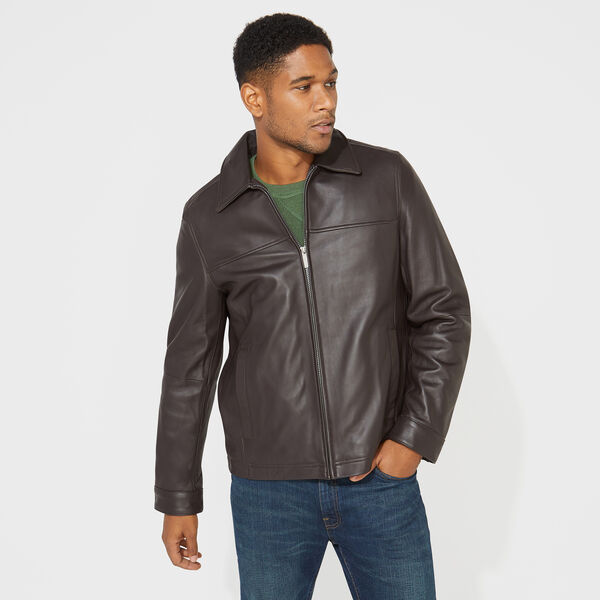 GENUINE LEATHER OPEN BOTTOM JACKET - Multi