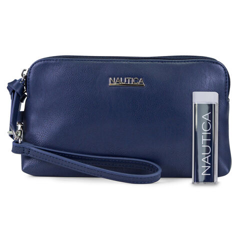 Power Sailing Wristlet with Battery Charger - Navy