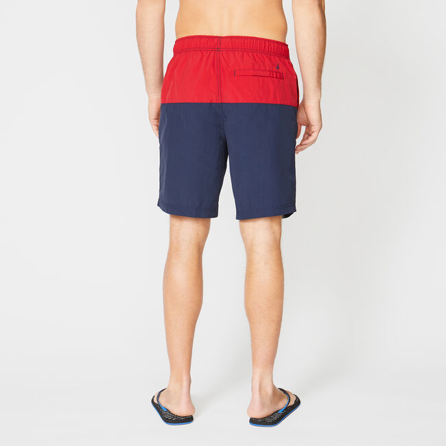 "8"" COMPETITION COLORBLOCK QUICK-DRY SWIM,Nautica Red,large"