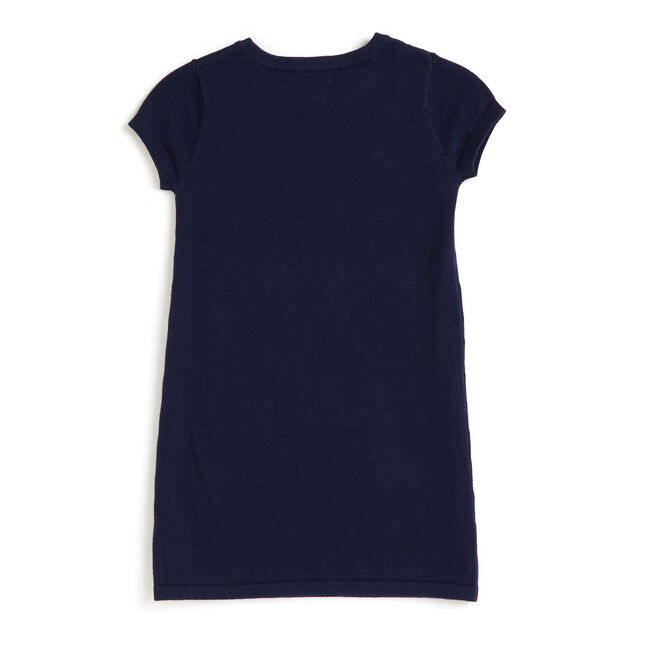 Toddler Girls' 'Anchor Purse' Sweater Dress (2T-4T),Navy,large
