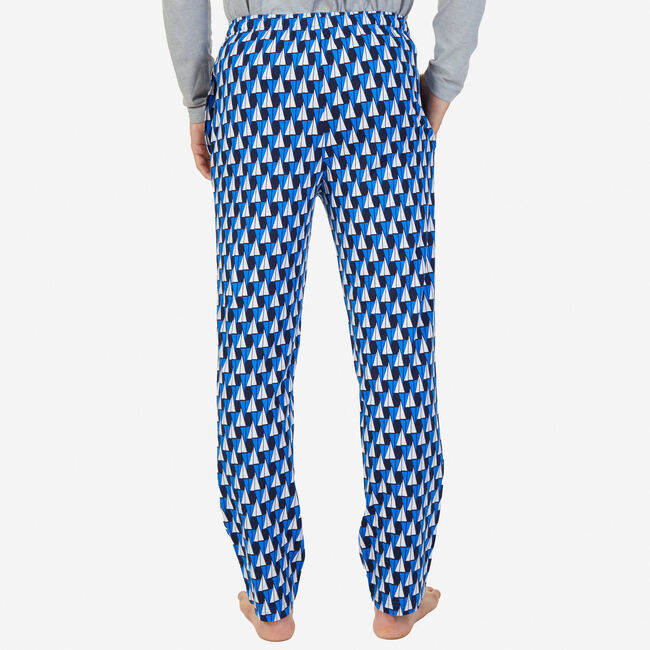 Sailboat Sueded Jersey Pajama Pants,True Navy,large