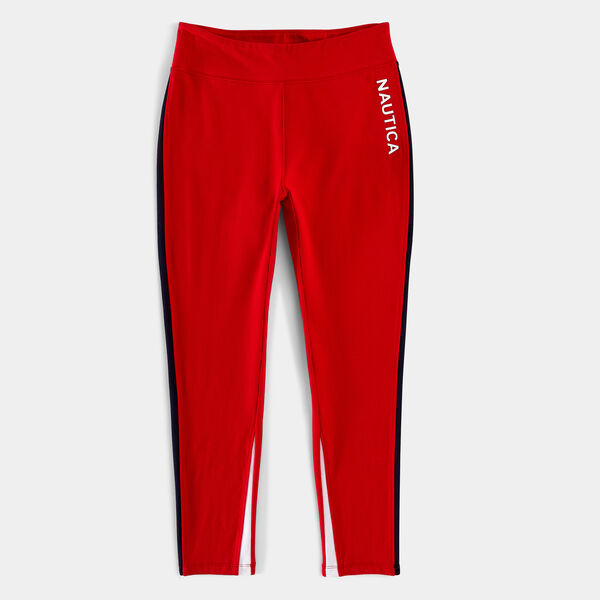 SIDE PANEL COLORBLOCK LEGGINGS - Tomales Red
