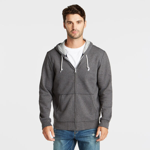 NEW FULL ZIP HOODIE - Charcoal Heather