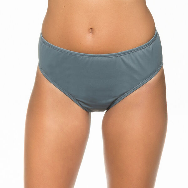 Hold The Line High Waist Bikini Bottoms - True Quarry