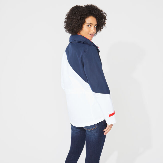 COLORBLOCK HOODED JACKET,Bright White,large