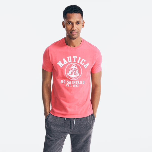 ANCHOR LOGO 83 GRAPHIC T-SHIRT - Riggin Red