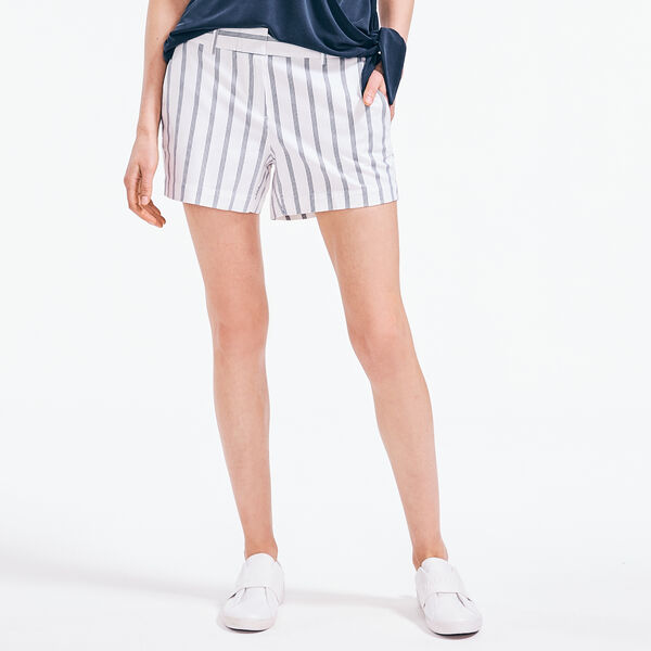 "4"" STRIPED STRETCH-TWILL SHORT - Bright White"