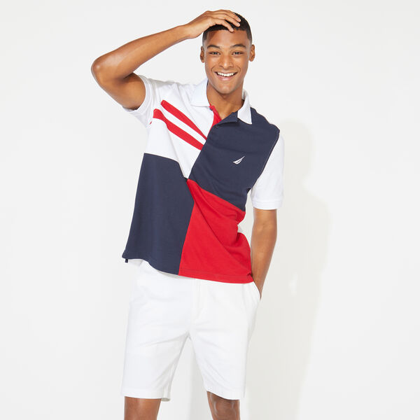 CLASSIC FIT COLORBLOCK POLO - Bright White