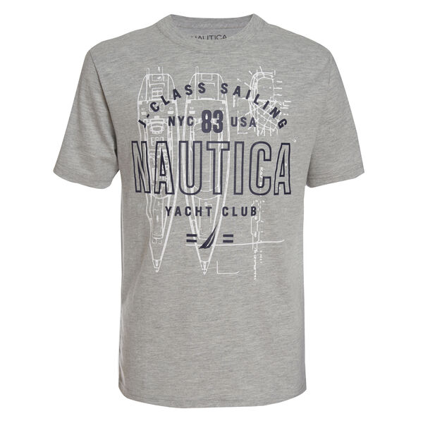 TODDLER BOYS' JOJO SKETCH BOAT TEE (2T-4T) - Grey Heather
