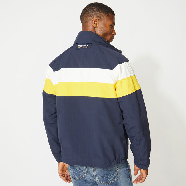 NAUTICA JEANS CO. REVERSIBLE BOMBER JACKET,Pure Dark Pacific Wash,large