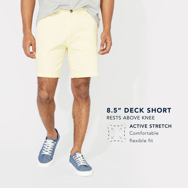"8.5"" Stretch Deck Short,Nautica Stone,large"