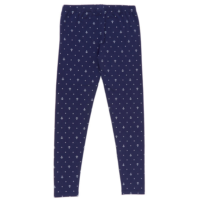Girls' Leggings in Critter Print,Navy,large