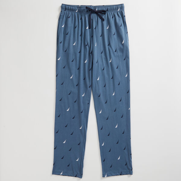 LOGO PRINT KNIT SLEEP PANT - Cobalt Wave
