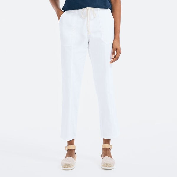 RELAXED FIT DRAWCORD PANT - Bright White