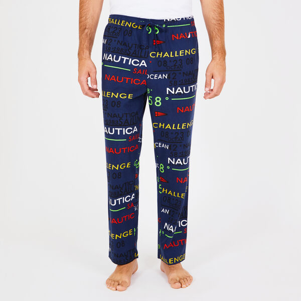Nautica Logo Fleece Pajama Pants - J Navy