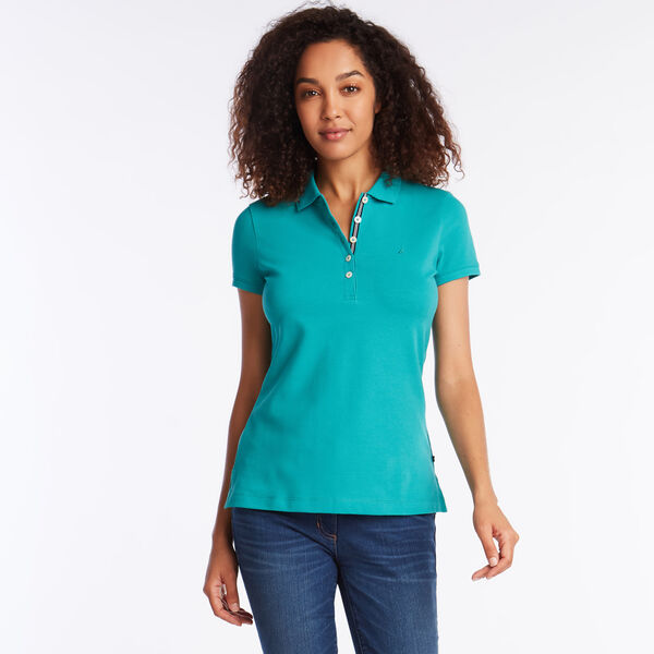 CLASSIC FIT CHAMBRAY COLLAR POLO - Juniper Green