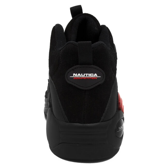 NAUTICA COMPETITION SPARA HIGH TOP IN BLACK,True Black,large