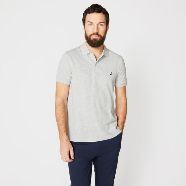 SLIM FIT DECK POLO - Grey Heather