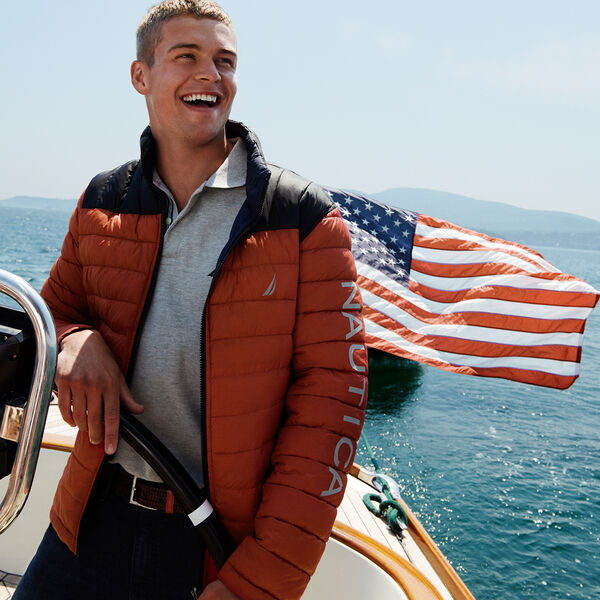 LIGHTWEIGHT REVERSIBLE JACKET WITH TEMPASPHERE - Nautica Red