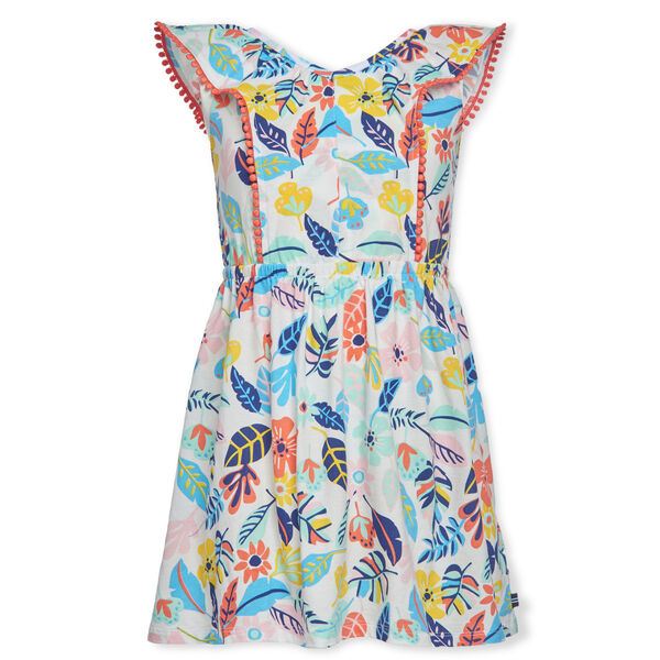 GIRLS' FLORAL PRINTED JERSEY DRESS - Blue Stern