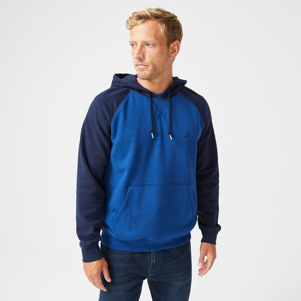 COLORBLOCK RAGLAN SLEEVE HOODIE - Estate Blue