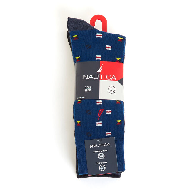 Signal Flag Capsule Dress Socks, 5-Pack,Black,large