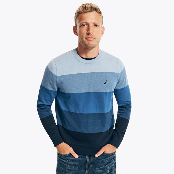 OMBRE STRIPED SWEATER - Navy