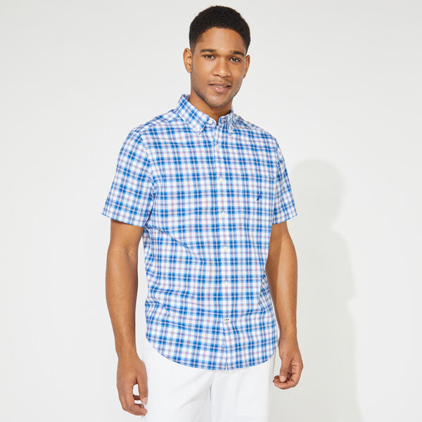 PLAID SHORT SLEEVE SHIRT - Clear Sky Blue