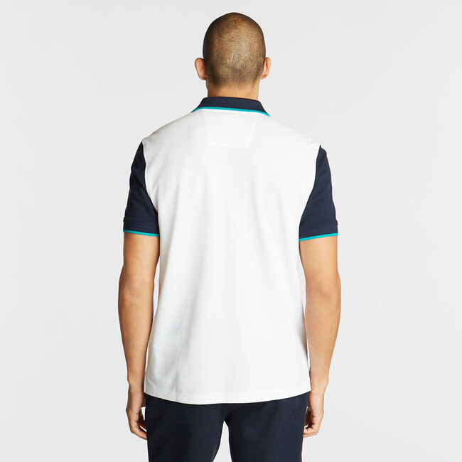 CLASSIC FIT CONTRAST COLLAR POLO,Bright White,large