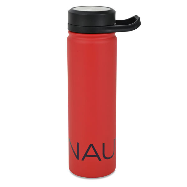 LOGO STAINLESS STEEL ROTATING HANDLE WATER BOTTLE - Nautica Red