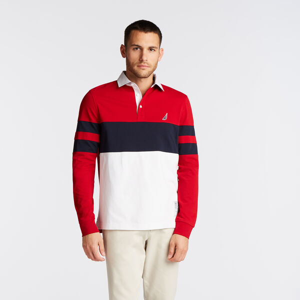 COLORBLOCK LONG SLEEVE RUGBY - Nautica Red