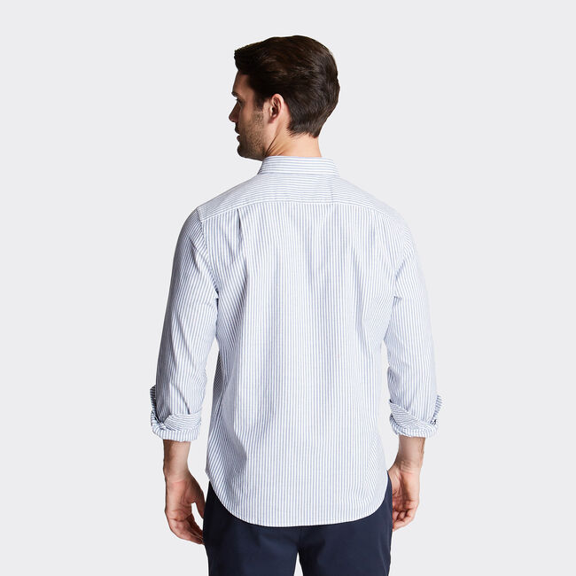 Long Sleeve Classic Fit Oxford Shirt,Blue Depths,large
